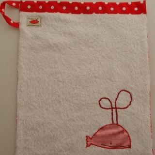 Handtuch Kindergartenhandtuch asciugamano towel Wal balena whale - MarionP Kinderaccessoires accessori  bimbi