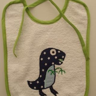 Lätzchen Babylätzchen Kinderlätzchen bavaglino bebè tovagliolo T-Rex Tyrannosaurus tirannosauro - MarionP - Marion Pramstrahler Giacomuzzi Kinderaccessoires Kindersachen Südtirol