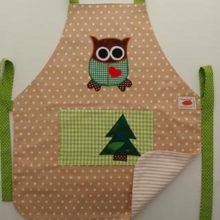 Schürze Kinderschürze Kindergartenschürze grembiule abbigliamento bambini apronEule gufo owl - MarionP -  Kinderaccessoires Kindersachen Südtirol