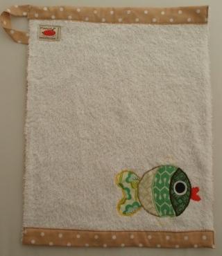 Handtuch Kindergartenhandtuch asciugamano Fisch pesce fish - MarionP Kinderaccessoires accessori bimbi