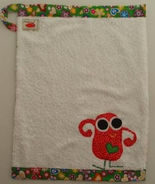 Handtuch Kindergartenhandtuch asciugamano towel Monster mostro - MarionP Kinderaccessoires accessori  bimbi