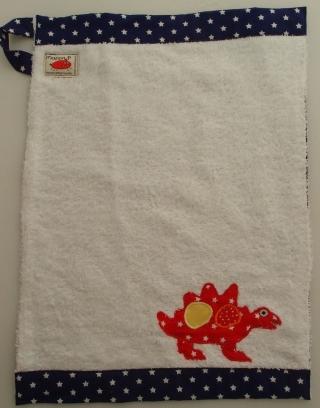 Handtuch Kindergartenhandtuch asciugamano towel Stegosaurus Dinosaurier dinosauro - MarionP Kinderaccessoires accessori  bimbi