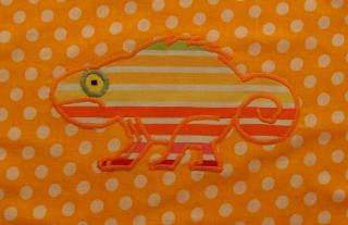 Schürze Kinderschürze Kindergartenschürze grembiule abbigliamento bambini Chamäleon gelb camaleonte giallo - MarionP