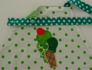 Schürze Kinderschürze Kindergartenschürze grembiule abbigliamento bambini Eis grün gelato verde - MarionP