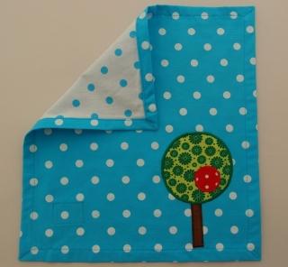 Serviette Stoffserviette Kinderserviette Kindergartenserviette tovagliolo Baum blau albero blu  - MarionP