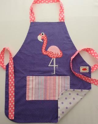 Schürze Kinderschürze Kindergartenschürze grembiule abbigliamento bambini apron Flamingo fenicottero - MarionP -  Kinderaccessoires Kindersachen Südtirol