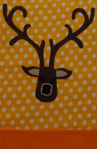Schürze Kinderschürze Kindergartenschürze grembiule abbigliamento bambini Hirsch gelb Cervo giallo - MarionP - Marion Pramstrahler Giacomuzzi Kinderaccessoires Kindersachen Vilpian Teis Südtirol