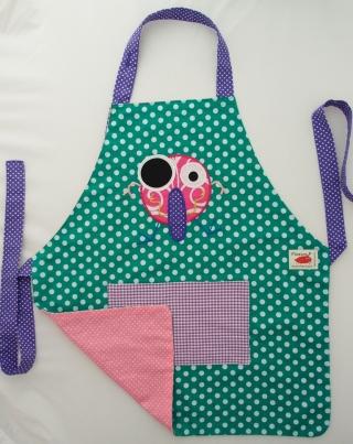 Schürze Kinderschürze Kindergartenschürze grembiule abbigliamento bambiniMonster mostro  - MarionP -  Kinderaccessoires Kindersachen Südtirol