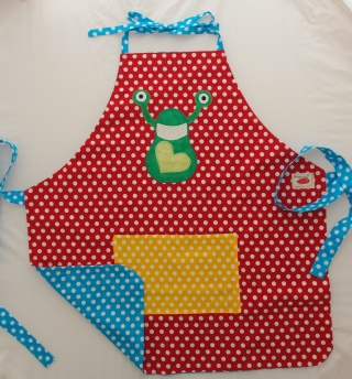 Schürze Kinderschürze Kindergartenschürze grembiule abbigliamento bambini - MarionP - Marion Pramstrahler Giacomuzzi Kinderaccessoires Kindersachen Südtirol