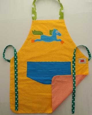Schürze Kinderschürze Kindergartenschürze grembiule abbigliamento bambini apron Pferd cavallo horse - MarionP -  Kinderaccessoires Kindersachen Südtirol