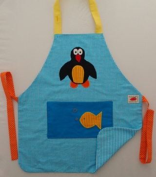 Schürze Kinderschürze Kindergartenschürze grembiule abbigliamento bambini apron Pinguin pinguino penguin - MarionP -  Kinderaccessoires Kindersachen Südtirol