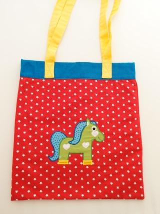 Tasche Tragetasche Einkaufstasche Schultertasche Stofftasche borsa borsone sacchetto Pferd cavallo horse - MarionP Kinderaccessoires accessori bimbi
