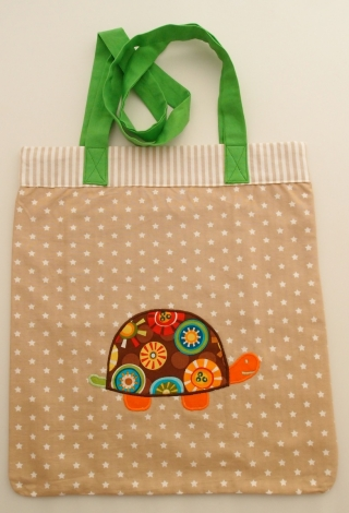 Tasche Tragetasche Einkaufstasche Schultertasche Stofftasche borsa borsone sacchetto Schildkröte tartaruga turtle - MarionP Kinderaccessoires accessori bimbi