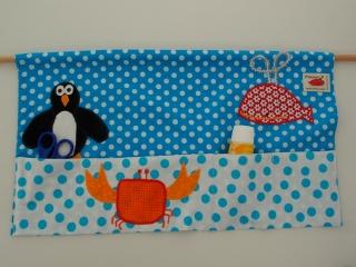 Wallbag Wandtasche porta accessori a muro porta utensili decorazione a muro Meerestiere blau Pinguin Wal Krebs Animali marini Balena Pinguino Cancro blu  - MarionP