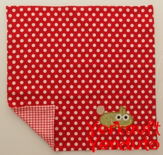 Serviette Stoffserviette Kinderserviette Kindergartenserviette tovagliolo Monster rot mostro rosso - MarionP - Marion Pramstrahler Giacomuzzi Kinderaccessoires Kindersachen Südtirol