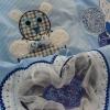 Krabbeldecke Spieldecke Kinderdecke Babydecke Kuscheldecke Baby hellblau trapunta per gattonare trapunta carponi trapunta gattoni trapunta bimbo bebè blu chiaro - MarionP