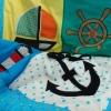 Krabbeldecke Spieldecke Kinderdecke Babydecke Kuscheldecke Segeln Segelboot Anker Steuerrad Leuchtturm trapunta per gattonare trapunta carponi trapunta gattoni trapunta bimbo vela barca a vela timone ancora faro - MarionP